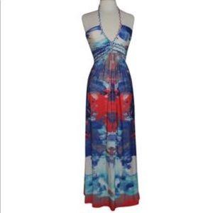 Cynthia Rowley braided multi color maxi dress